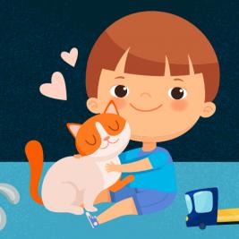 Beneficios de crecer con un gato